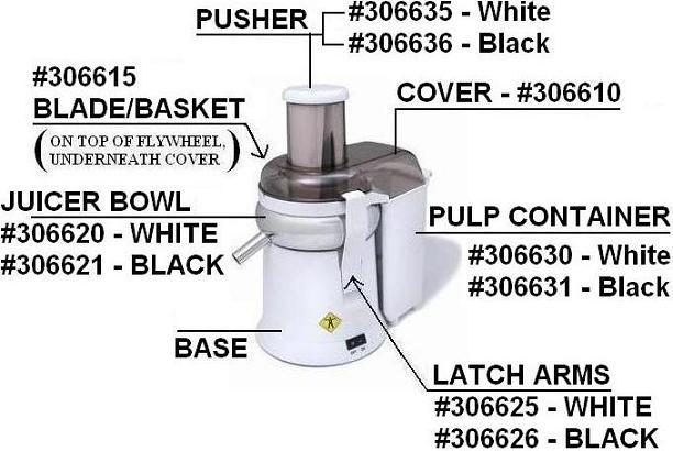 L'Equip XL Juicer Parts (Model #215)